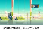 vector airport waiting hall  ... | Shutterstock .eps vector #1183940125