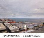 aerial view of logistics... | Shutterstock . vector #1183943638