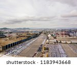 aerial view of logistics... | Shutterstock . vector #1183943668