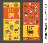 fastfood and street food flyer... | Shutterstock . vector #1183944415