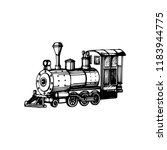 toy locomotive hand drawn... | Shutterstock .eps vector #1183944775