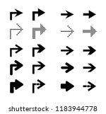 arrow sign icon set. vector...   Shutterstock .eps vector #1183944778