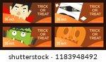 vector set of a four halloween... | Shutterstock .eps vector #1183948492
