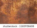 grunge rusted metal texture.... | Shutterstock . vector #1183958608