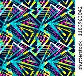 grunge urban seamless geometric ... | Shutterstock .eps vector #1183963042