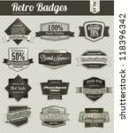 retro vintage badges | Shutterstock .eps vector #118396342