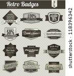 retro vintage badges | Shutterstock .eps vector #118396342