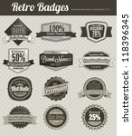 retro vintage badges | Shutterstock .eps vector #118396345