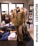mannequins dressed in casual... | Shutterstock . vector #1183969588