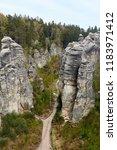 the sandstone rocks called...   Shutterstock . vector #1183971412