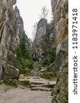 the sandstone rocks called...   Shutterstock . vector #1183971418