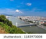 budapest cityscape  with... | Shutterstock . vector #1183973008