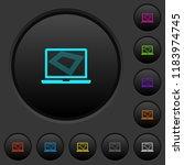screen saver on laptop dark... | Shutterstock .eps vector #1183974745