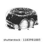 engraved style illustration for ... | Shutterstock . vector #1183981885