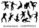 a set of male street dance hip... | Shutterstock . vector #1183990315