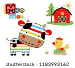 vector illustration of farmland ... | Shutterstock .eps vector #1183993162