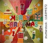 retro christmas background | Shutterstock .eps vector #118399372