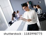 corporate business team and... | Shutterstock . vector #1183998775