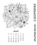 flower bouquet   coloring...   Shutterstock .eps vector #1183998985
