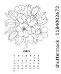 flower bouquet   coloring...   Shutterstock .eps vector #1184002672