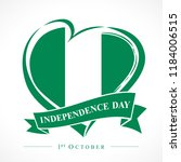 1st october nigeria... | Shutterstock .eps vector #1184006515