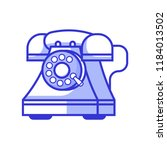 retro phones with rotary dial... | Shutterstock .eps vector #1184013502