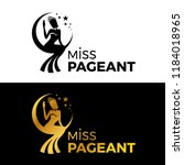 miss lady pageant logo sign... | Shutterstock .eps vector #1184018965