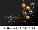vector elegant christmas... | Shutterstock .eps vector #1184019178