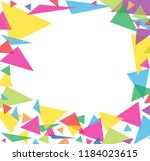 abstract colorful triangle... | Shutterstock .eps vector #1184023615