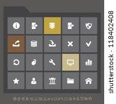 modern server icons for mobile...
