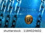 golden bitcoin digital currency ... | Shutterstock . vector #1184024602