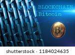 golden bitcoin digital currency ... | Shutterstock . vector #1184024635
