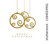vector christmas greeting card... | Shutterstock .eps vector #1184024902