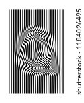 black and white striped... | Shutterstock .eps vector #1184026495