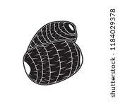 taro doodle icon flat black | Shutterstock .eps vector #1184029378