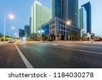 night view and road of modern... | Shutterstock . vector #1184030278