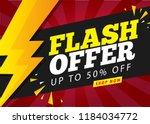 flash offer sale banner | Shutterstock .eps vector #1184034772