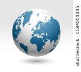 world map wector | Shutterstock .eps vector #1184051335