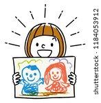 illustration material  girl...   Shutterstock .eps vector #1184053912