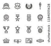awards icons set with white... | Shutterstock .eps vector #1184055628