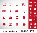computer hardware icons. pc... | Shutterstock .eps vector #1184061472