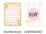 gold glitter sequins with dots. ... | Shutterstock .eps vector #1184066062