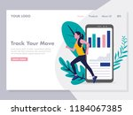 application for running tracker ... | Shutterstock .eps vector #1184067385
