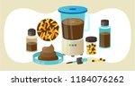 fecal microbiota transplant ...   Shutterstock .eps vector #1184076262