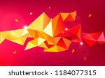 vector astract 3d geometric... | Shutterstock .eps vector #1184077315