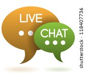 live chat speech balloons icon... | Shutterstock .eps vector #118407736