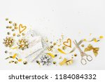 christmas decorations and gifts ...   Shutterstock . vector #1184084332