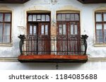 balcony of an old house   Shutterstock . vector #1184085688