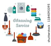 equipment cleaning service... | Shutterstock .eps vector #1184093395