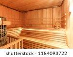 sauna room inside | Shutterstock . vector #1184093722